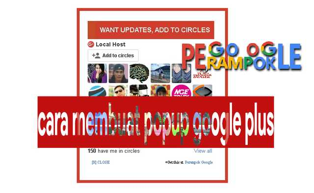 cara membuat popup google plus di blogger