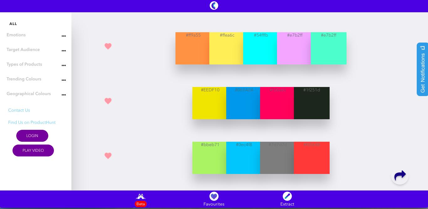 數百組打中人心的配色, Culrs 讓各種產品色彩設計不出錯