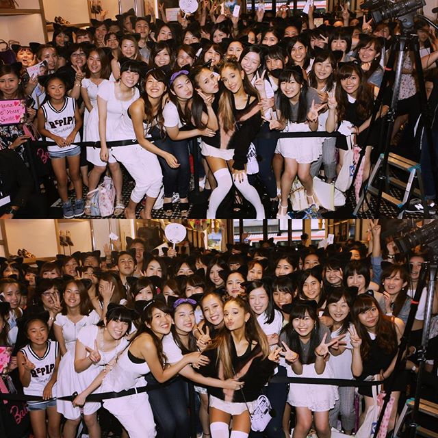 Ariana Grande me & my babies today. I love you!! thank you