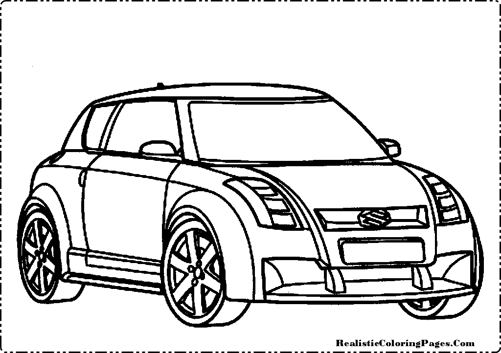 suzuki cars coloring pages