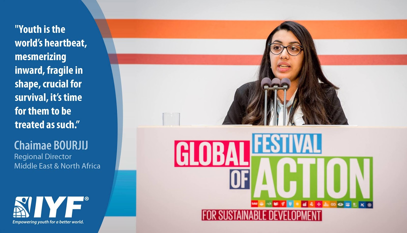 Chaimae BOURJIJ, IYF Regional Director for Middle East & North Africa