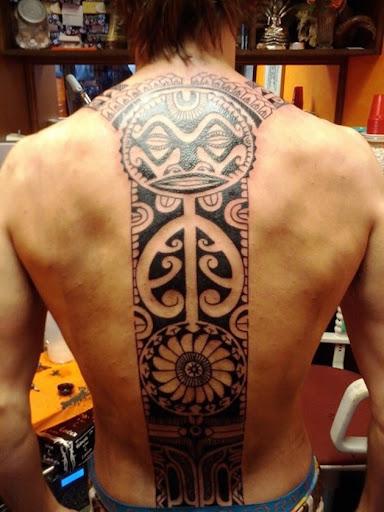 Outro friggin' doce retangular de volta tatuagem