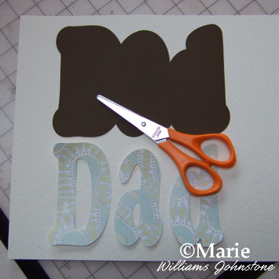 Dad letters lettering hand cut paper scissors craft for diy Fathers day card