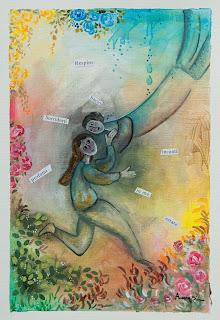 https://www.latelierdannapia.com/ chagall Annapia Sogliani artiste peintre pittrice painter artist Scuola Internazionale di illustrazione di Sarmede