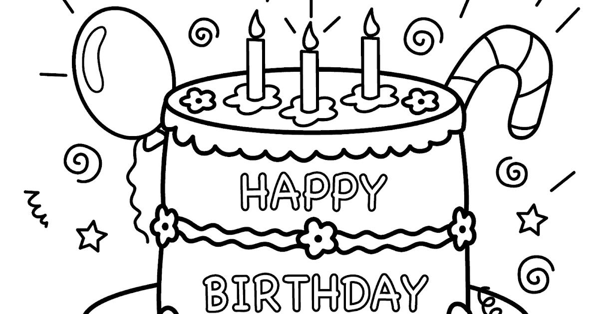 Kumpulan Gambar Mewarnai Kue Ulang Tahun Anak Tk Paud Sd Terbaru