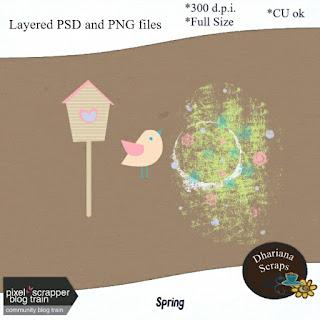 Spring CU freebie - Pixel Scrapper CU Blogtrain