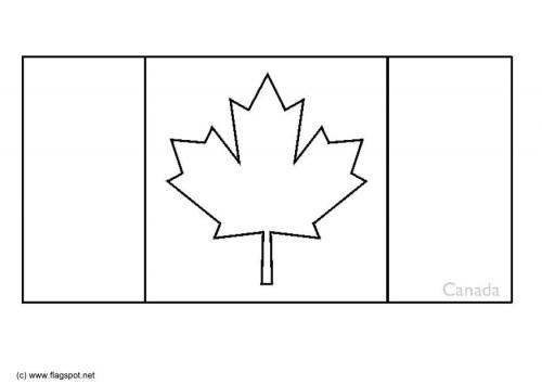 Mapa Y Bandera De Canada Para Dibujar Pintar Colorear