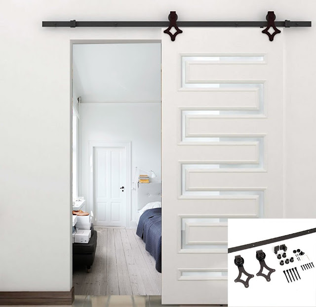 unique sliding barn door hardware