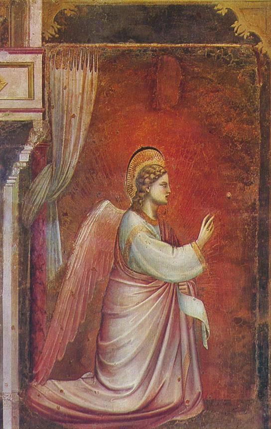 O Anjo Gabriel Enviado por Deus - Giotto di Bondone e suas pinturas ~ Primeiro a introduzi a perspectiva na pintura