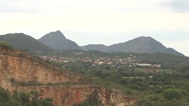 Visão da cidade de Rio de Contas na Chapada Diamantina na Bahia