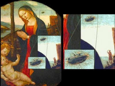 Foto UFO di Lukisan Abad 15