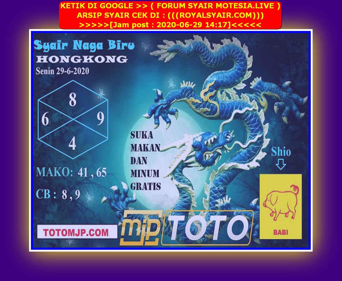 Kode syair Hongkong Senin 29 Juni 2020 202