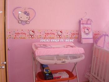 Ideas para tu bebe idea de habitacion hello kitty for Cuarto para nina hello kitty