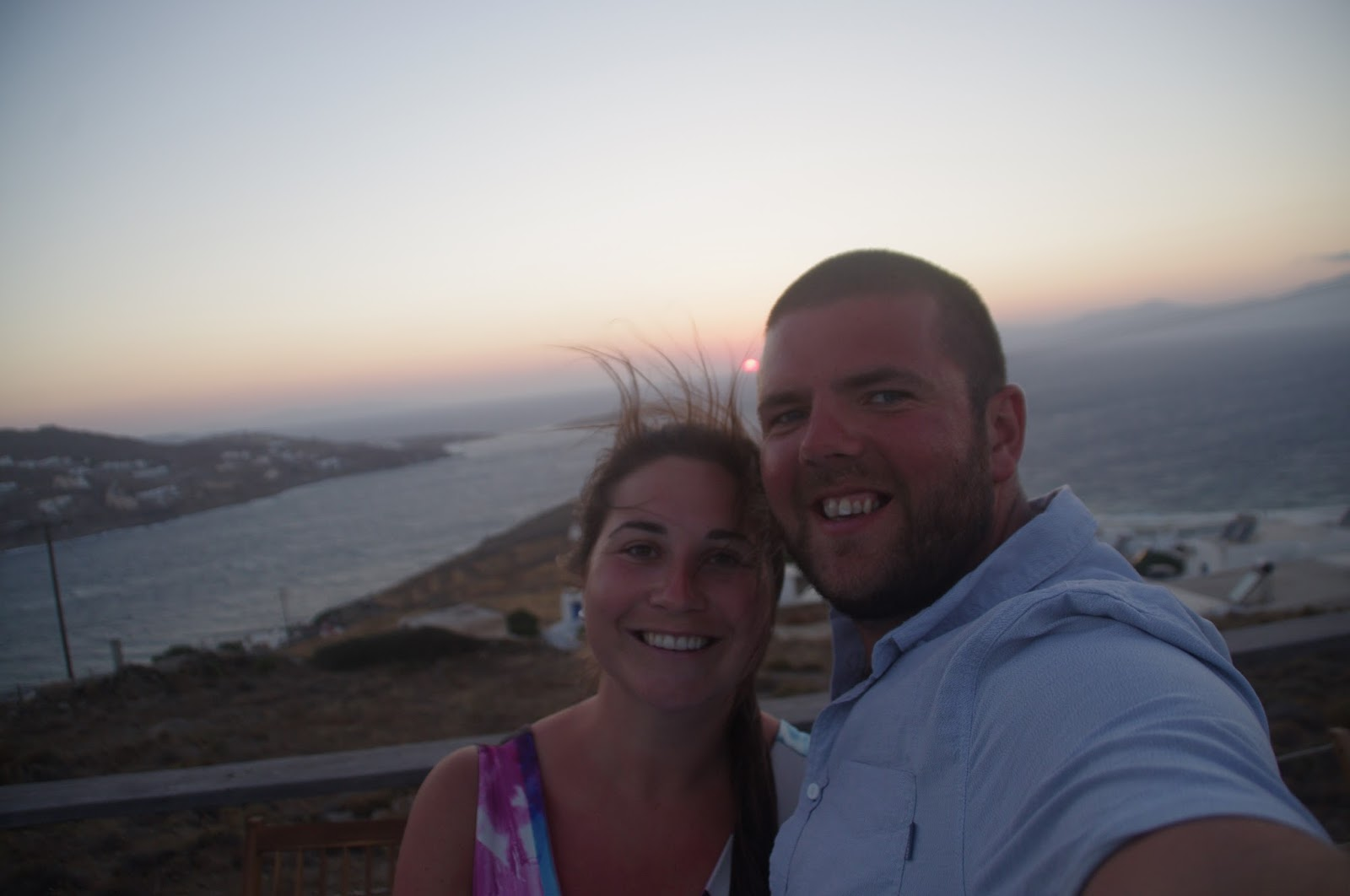 Couple at Sunset Mykonos