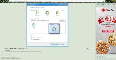 windows 7 ke start button ka icon change kaise karte hai