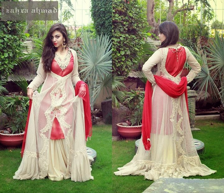 055596c0c88e Zahra Ahmad Exclusive Party Dresses 2015 For Girls