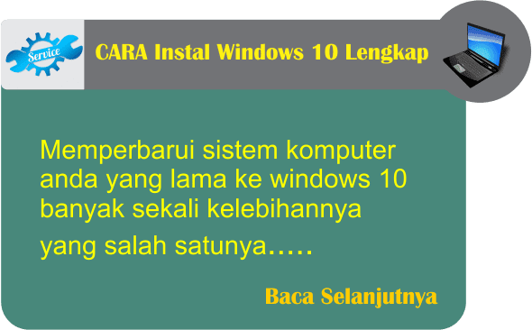 Cara Instal Windows 10 Lengkap