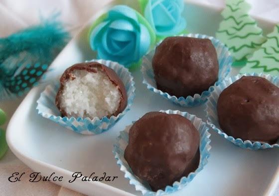Receta del día: bolas de coco recubierta de chocolate