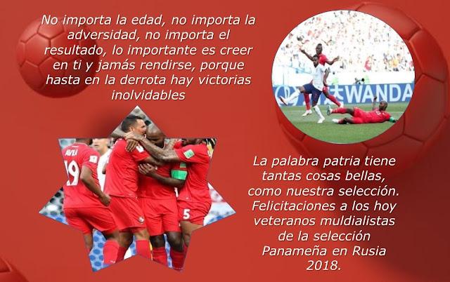 Hasta en la derrota hay victorias inolvidables Felicitaciones a la Roja de Panamá