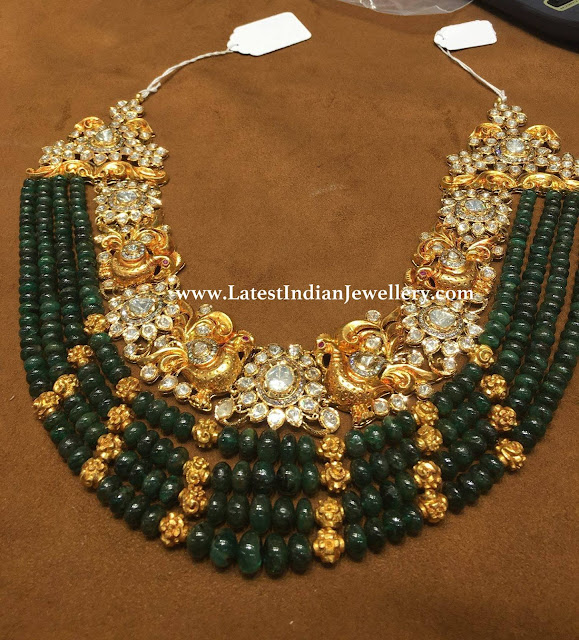 Emerald Beads Pachi Necklace