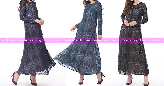 NBH0572 JUBAH LACE MUFIDAH (PLUS SIZE & NURSING FRIENDLY)