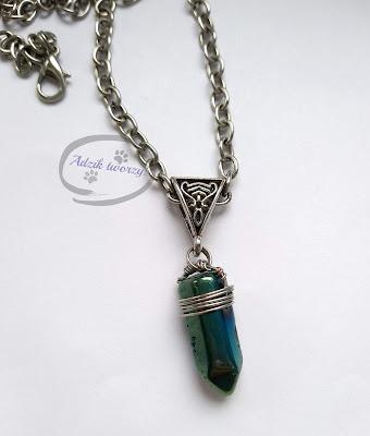Naszyjnik z amuletem, naszyjnik i hematyt