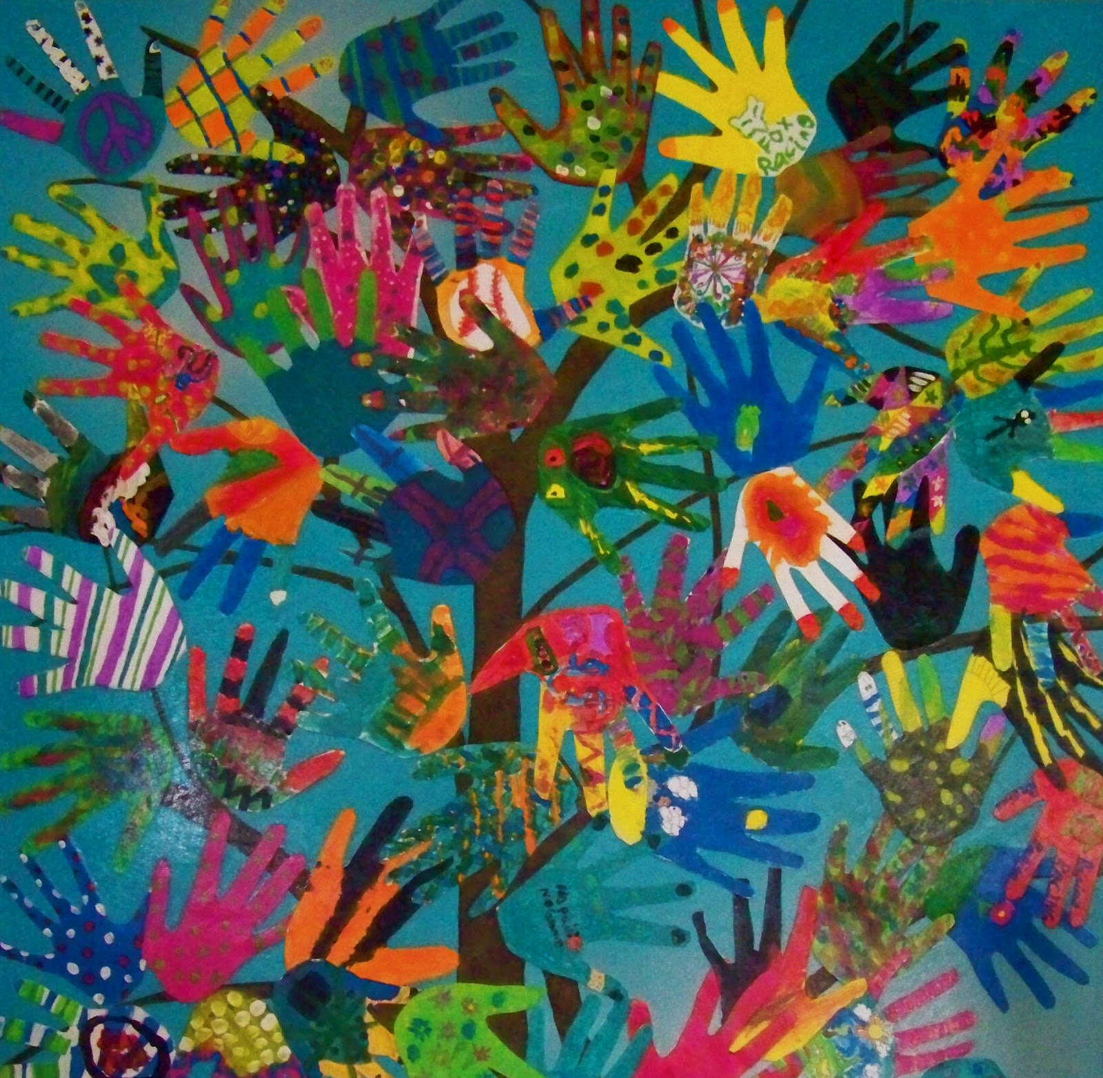 Candice Ashment Art The Hand Tree Hand Art 4rth Grade