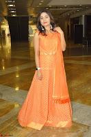 Bhanu Priya in Oreange Ethnic Anarkali Dress 19.JPG
