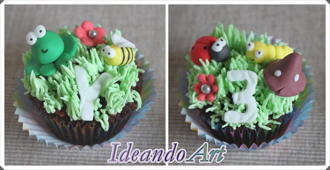 Cupcakes con fondant
