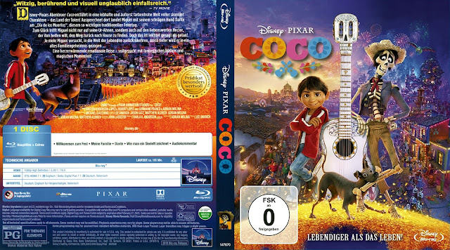 Disney Pixar Coco Bluray Cover