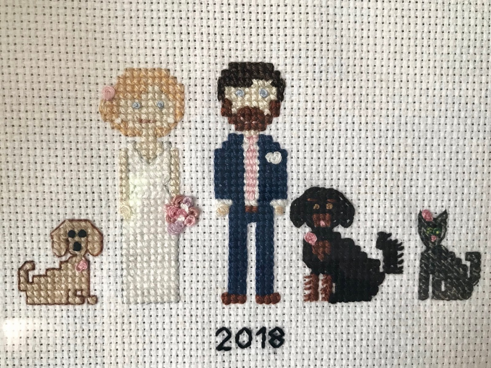cross stitch family