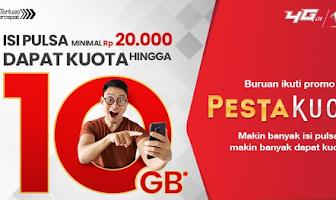 Cara Mendapatkan Kuota 10 GB Pesta Kuota Telkomsel