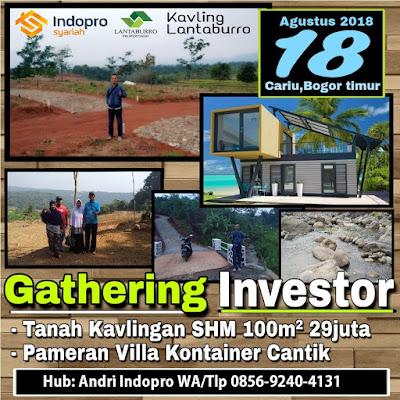 Gathering Pameran Rumah Kontainer di Kavling Produktif Lantaburro Karyamekar Cariu