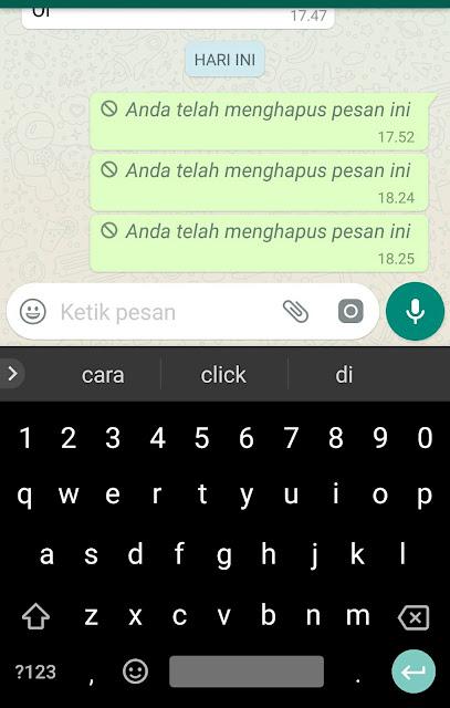 Cara Mudah Hapus Pesan Terkirim WhatsApp