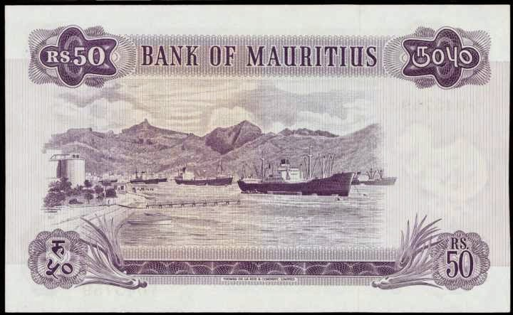 Mauritius 50 Rupees banknote 1967