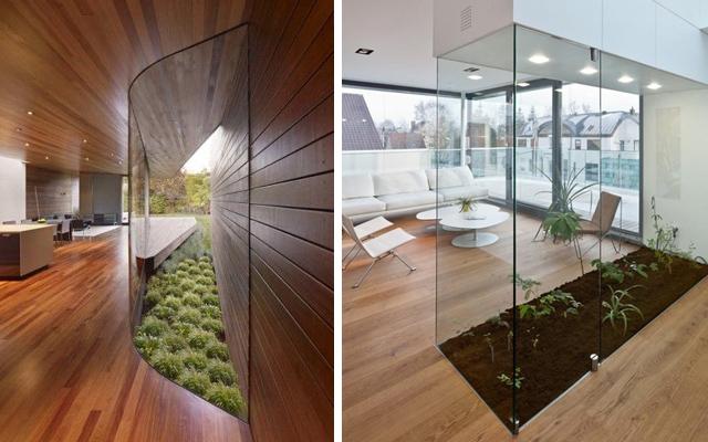 Marzua viviendas con jard n interior - Jardin japones interior ...