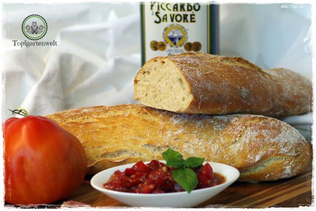 italienisches Bruschetta-Rezept als Brotbelag für Ciabatta - Foodblog Topfgartenwelt