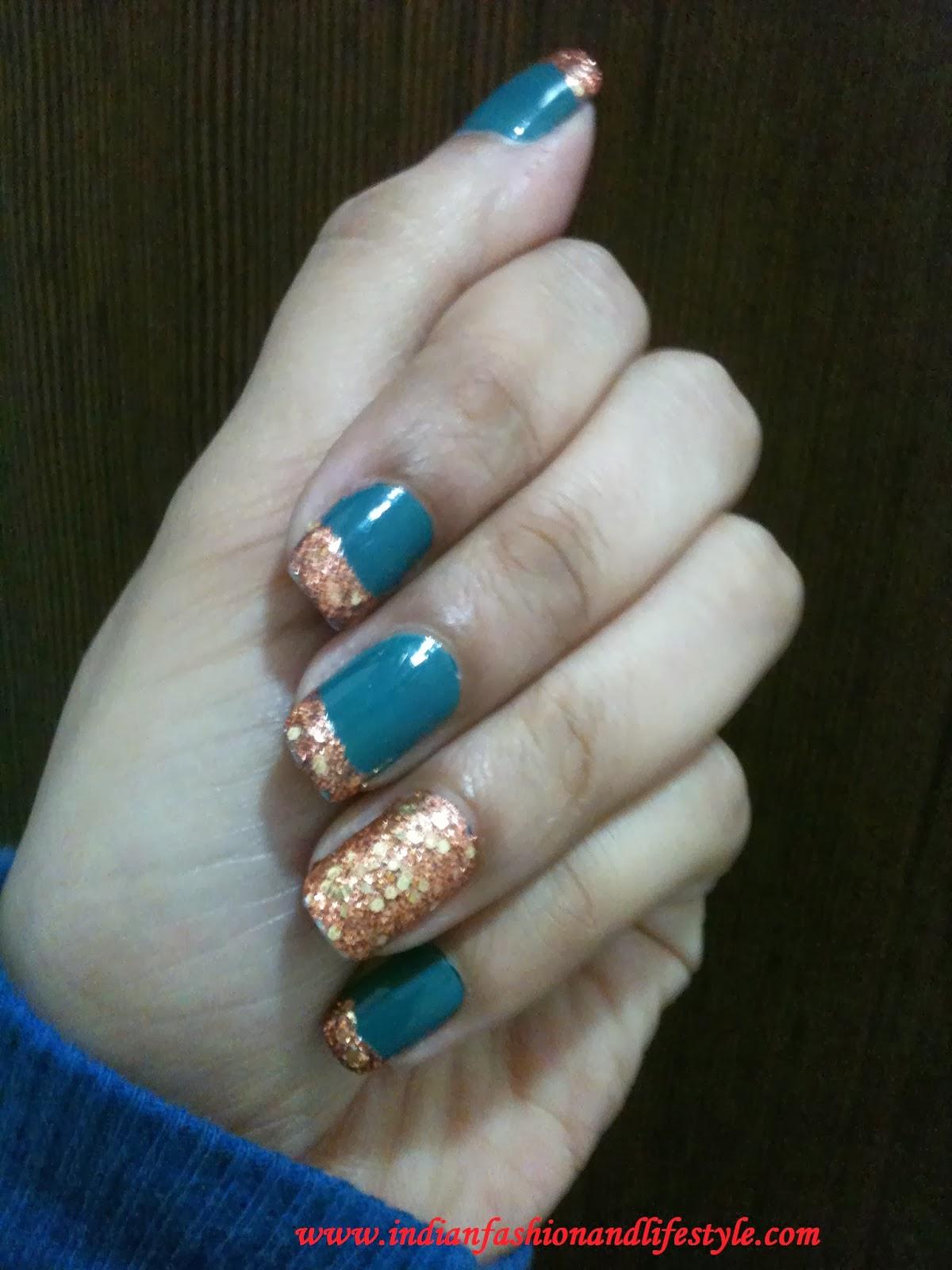 NOTD: L'Oreal Paris Color Riche nail enamels Copper cuff +