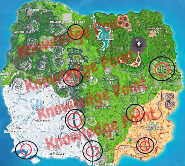 Fortnite Jigsaw Puzzle Piece Locations