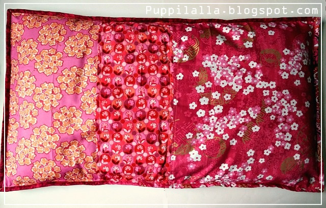 Puppilalla, scrap buster, patchwork,scrappy string pillowcase, backside