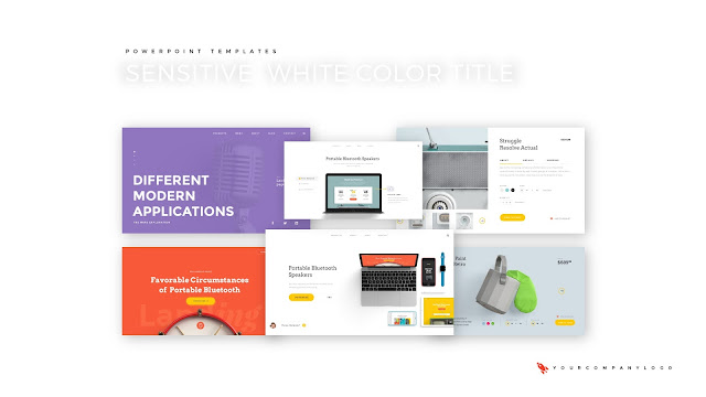 Our 6 Projects of Premium PowerPoint Template with Whit Title