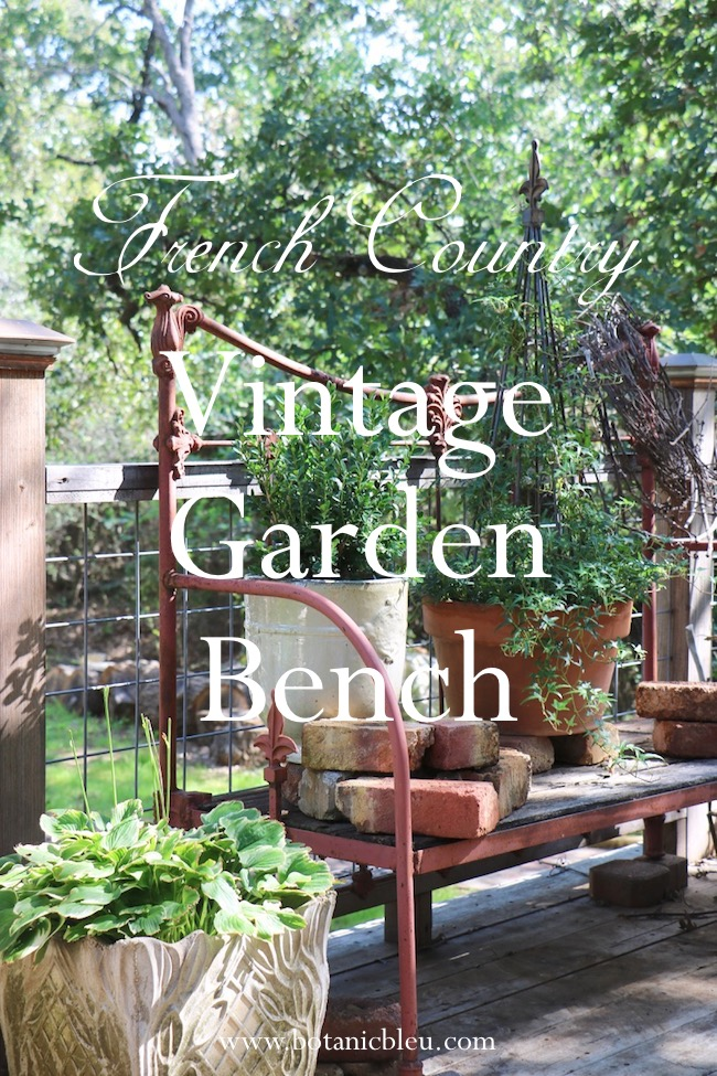 french country vintage garden bench made from antique iron bed