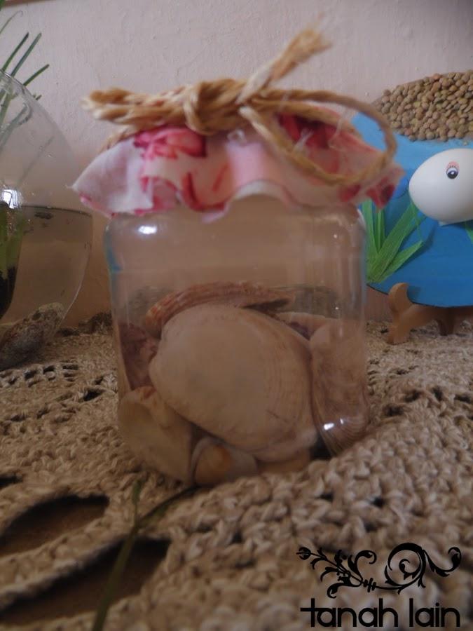 Manualidades infantiles: Pez en el mar y tarro guarda recuerdos