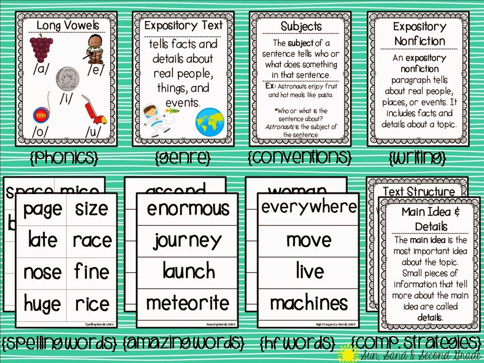 Focus Walls   and a Freebie! :) - Sun, Sand & Second Grade