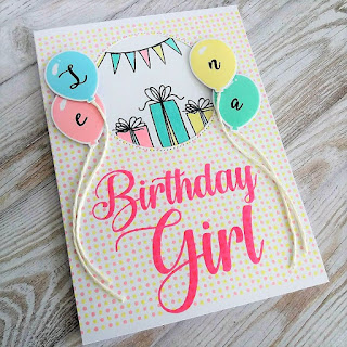 Girly balloon card