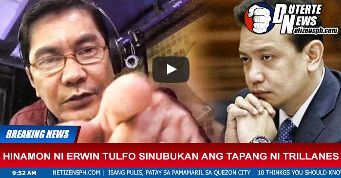 Hinamon Ni Erwin Tulfo Sinubukan Ang Tapang Ni Trillanes