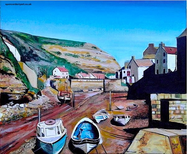 Buy Art - Original Affordable Acrylic Staithes Painting on Canvas on ArtGallery.co.uk