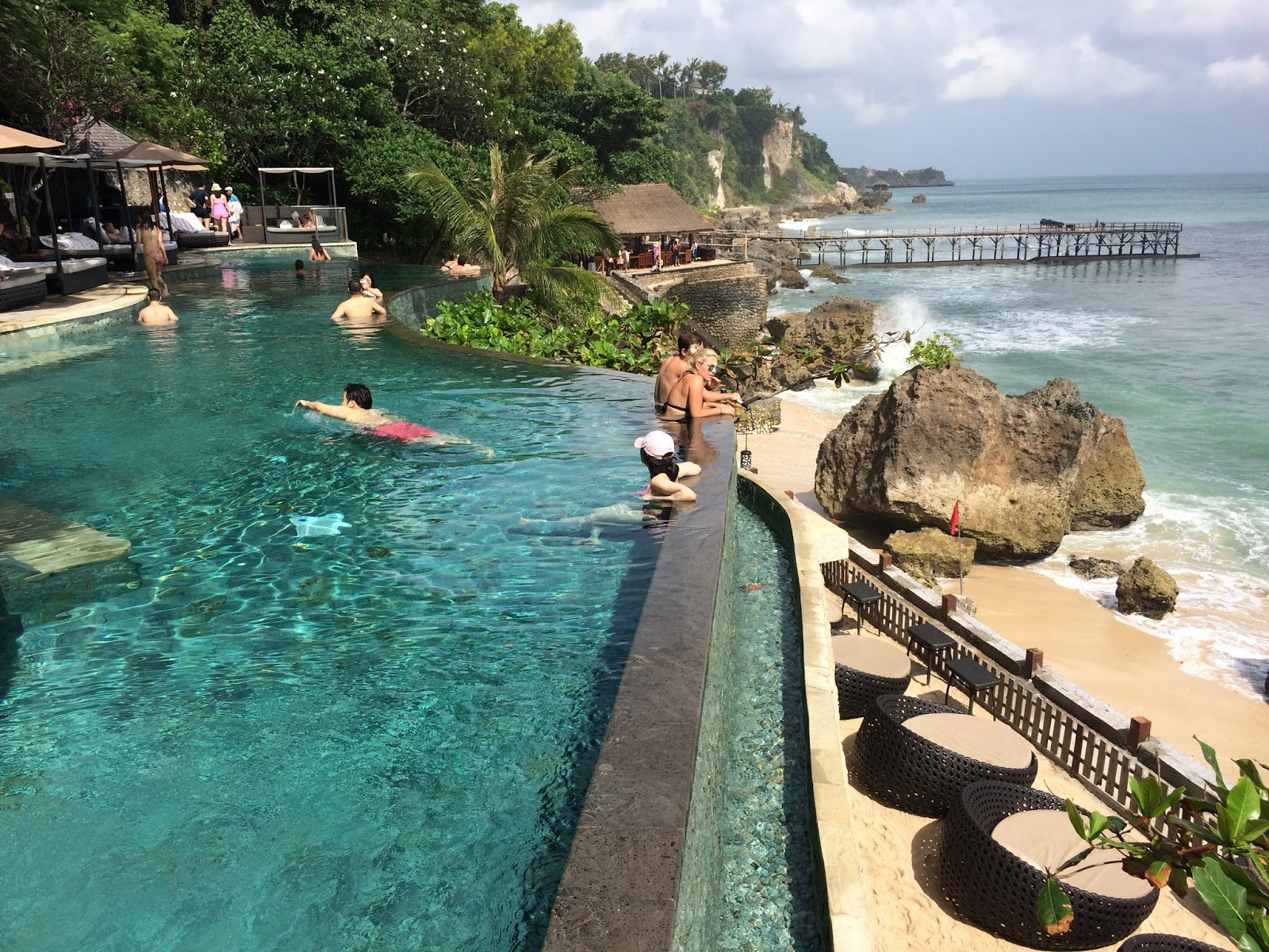 Ayana Resort Ocean Beach Pool Bali Indonesia