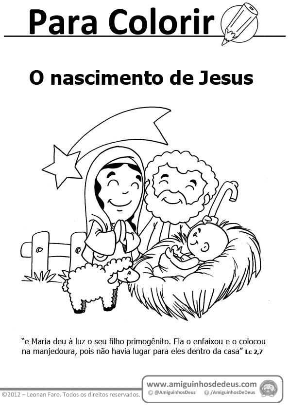 Natal O Nascimento De Jesus Para Colorir