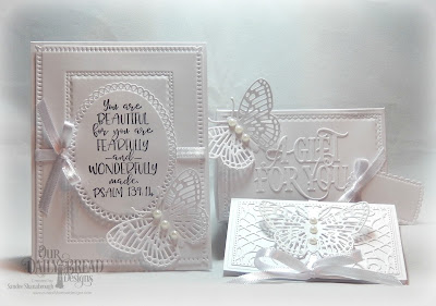 Our Daily Bread Designs Stamp Set: Today and Everyday, Custom Dies: The Giving Gift Box, A Gift For You, Fancy Fritillary, Snowflake Sky, Gift Card Holder